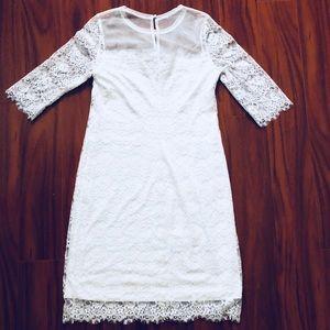BCBGMaxAzria Dresses - BCBG Lillian White Lace Dress